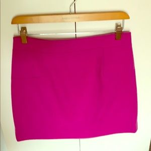 Jcrew A-line mini skirt in magenta - never worn!